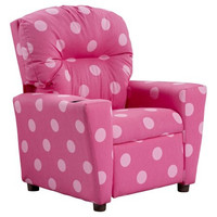 Kids, Children, Toddlers Pink Upholstered Fabric Recliner Chair