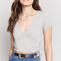 Surplice Cropped Tee