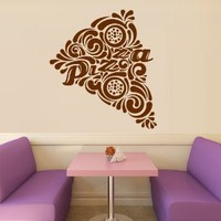 Wall Decal Vinyl Sticker Decals Art Decor Design Pizza interior Pizzeria Resaurant Italy Kitchen Food inscription signboard Fun M1521