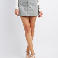 Cargo Button-Up Mini Skirt | Charlotte Russe
