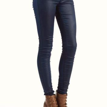 liquid-leatherette-jeggings NAVY - GoJane.com