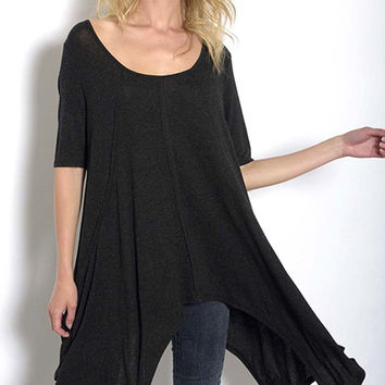 Caterina Tunic - Charcoal