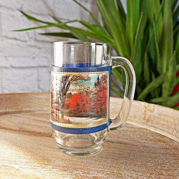 Vintage 1970s Happy Landing Lodge + Glass Souvenir Mug