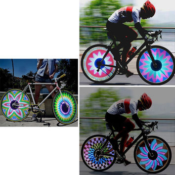 21Flash Patterns 32 RGB LED Bike Cycling Tyre Tire Wheel Valve Spoke Light LampB
