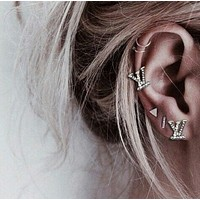 LV Louis Vuitton Fashion Women Alphabet fashion lady earrings