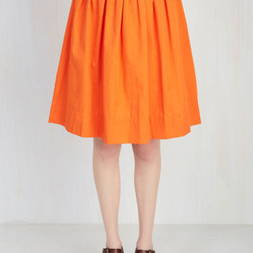 How in the Whirl? Skirt in Tangerine