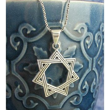Heptagram or Elven Star Necklace
