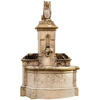 Castle Fountain, 19th Century, with Lion on the Top