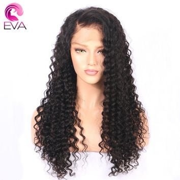 "Eva Hair Pre Plucked Full Lace Human Hair Wigs With Baby Hair 14""-26"" Water Wave Brazilian Remy Hair Lace Wigs For Black Women"