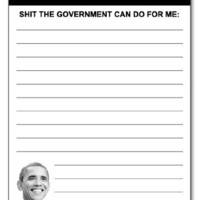 "Obamacare Notes Barack Obama 50-Sheet 4.25"" x 5.5"" funny notepad stationery gag gift idea"