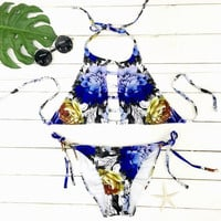 Cupshe Brighter Day Blooming Halter Bikini Set