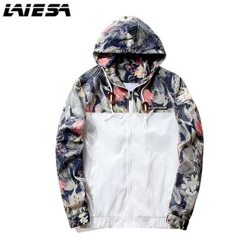 LIESA Floral Bomber Jacket Men Hip Hop Slim Fit Flowers Pilot Bomber Jacket Coat Men's Hooded Jackets Plus Size 4XL