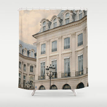 Paris shower curtain - bathroom decor, photography backdrop, wedding backdrop