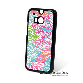 Lilly Pulitzer-Let's Cha Cha HTC One M8 Case Cover for M9 M8 One X Case