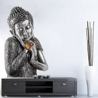 Buddha Wall Sticker Asian Home Decor Yoga Meditation Buddha Reiki Tibetan - BIg Size Printed and Cutted