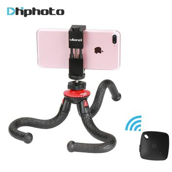 Ulanzi Travel Octopus Tripod with Metal Phone Holder Flexible Bluetooth Tripod for iPhone Gopro Hero 4 Sjcam Xiaoyi Nikon Canon