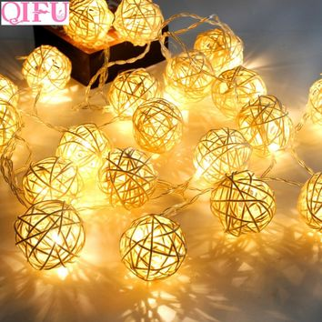 QIFU 2m 5m LED String Light Christmas Tree Decoration Ornament Christmas Merry Christmas Decorations for Home Noel New Year
