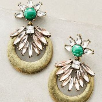 Lutece Earrings by BaubleBar x Anthropologie in Green Motif Size: One Size Earrings