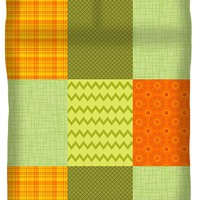 Patchwork Patterns - Orange And Olive Duvet Cover for Sale by Shawna Rowe - Queen