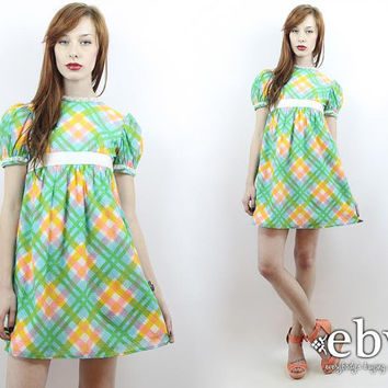 Shop Green 70's Dress on Wanelo