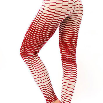B I G S A L E ! Printed leggings , Yoga pants , plus size tights , trendy womens clothes - Red