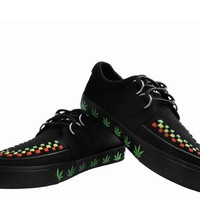 Black Canvas Weed VLK Sneaker