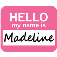 Madeline Hello My Name Is Mouse Pad
