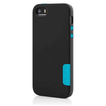 The Incipio Black / Cyan Phenom™ Lightweight Case with Phenomenal Drop Protection for iPhone 5-5s