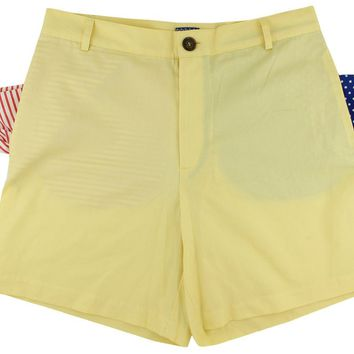 Freedom Shorts in Texas Rose Yellow Twill by Blankenship Dry Goods