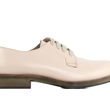 Brunello Cucinelli Light Pink Patent Leather Lace Up Oxfords
