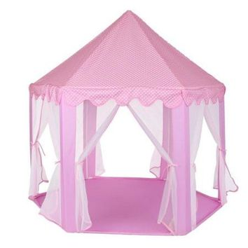 Princess Castle Play House Large Indoor/Outdoor Kids Play Tent Perfect Hexagon Large Playhouse Toys for Girl Toddler