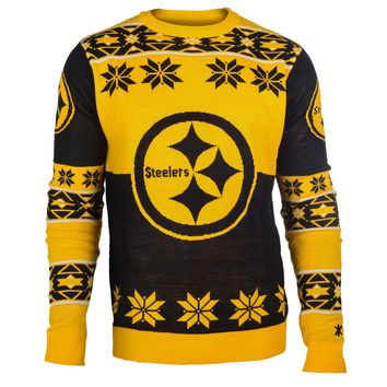 Pittsburgh Steelers NFL 2015 Big Logo Ugly Crewneck Holiday Sweater