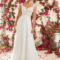 Voyage by Mori Lee 6794 Lace Chiffon Wedding Dress