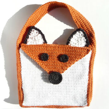 Fox Bag CROCHET PATTERN Fox Purse Tote Bag Messenger Bag Cross Body Handbag Animal Bag Shoulder Bag Hand Bag Womens Bag Crossbody Bag Cute