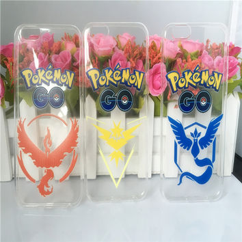 New Capa Case Pikachu Pokemons Go Pokeball Valor Team for iphone 5 5s 5C 6 6s 3 color Ultrathin TPU Soft Back Cover p20