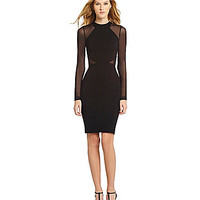 French Connection Viven Mesh-Paneled Dress - Black