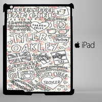 Tyler Oakley Floral Collage iPad 2, iPad 3, iPad 4, iPad Mini and iPad Air Cases - iPad