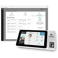 "Citadel OB2000 Web Based Tablet Time Clock with Camera, 7"" Touch Screen, and Fingerprint, RFID, Pin Punching Capability"