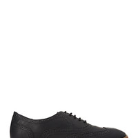 Faux Leather Wing Tips