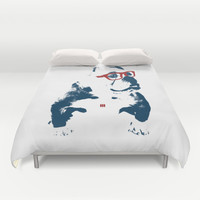 Bulldog Duvet Cover by Matt Irving