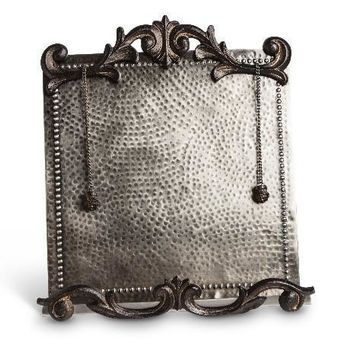 Hammered Silver Cookbook Holder