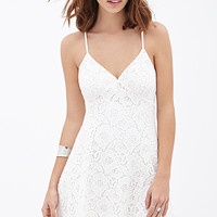 FOREVER 21 Floral Lace Cami Dress