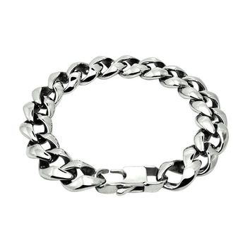 New Hot Sales Titanium Steel Men s Charm Bracelets Retro High Quality Mens Bracelets Cool Male