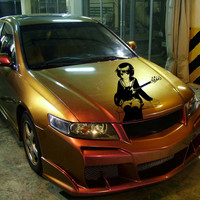 Anime Car Decal Car Decal Sticker Girl with guitar Car Vinyl Anime Vinyl 10202