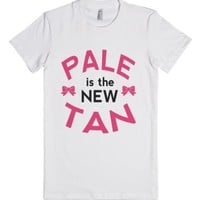 Pale is the New Tan! (Juniors)-Female White T-Shirt