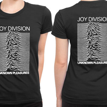 Joy Division Unknown Pleasure 2 Sided Womens T Shirt