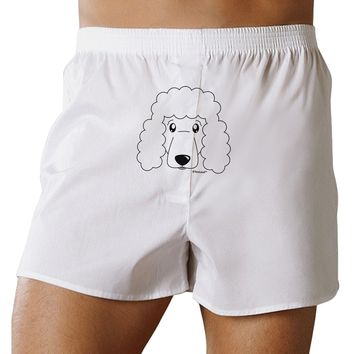 Cute Poodle Dog - White Front Print Boxer Shorts by TooLoud
