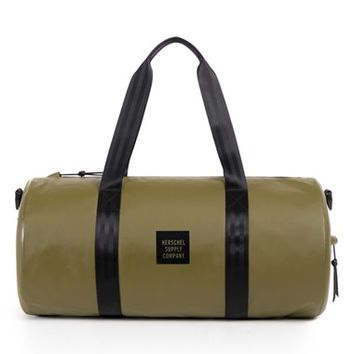 Men's Herschel Supply Co. 'Sutton - Studio Collection' Water-Resistant Tarpaulin Duffel Bag - Green