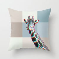 GIRAFFE Throw Pillow by M✿nika  StrigelNEW CUTE Pillow in 3 SIZES  other animals available!