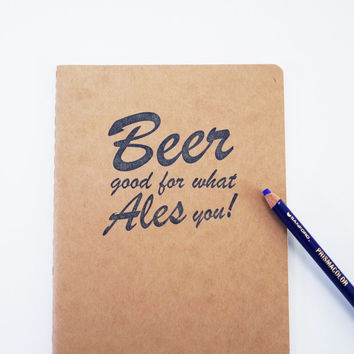 Beer notebook, homebrewing journal microbrew tasting notes